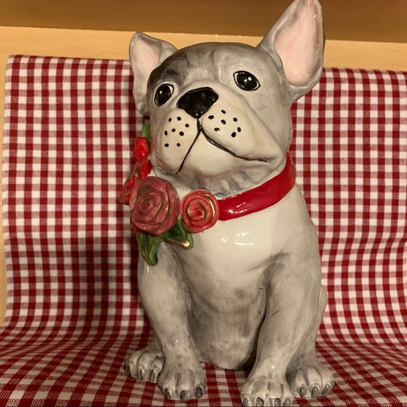 🆕 Blue Sky French Bulldog with floral collar